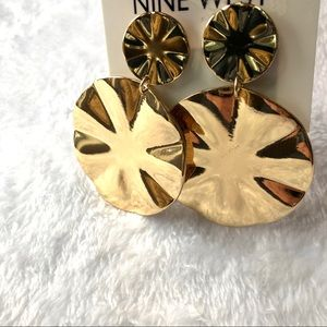 Nine West gold round earrings